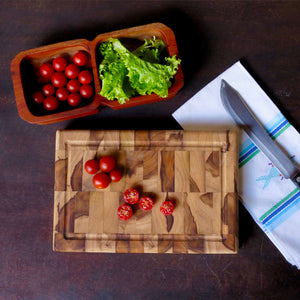End Grain Butcher Block with Groove