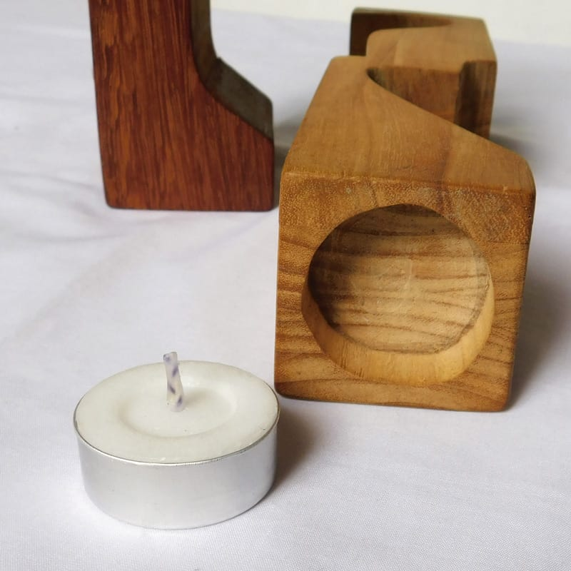 Unique Christmas Candle Holders Set of 5