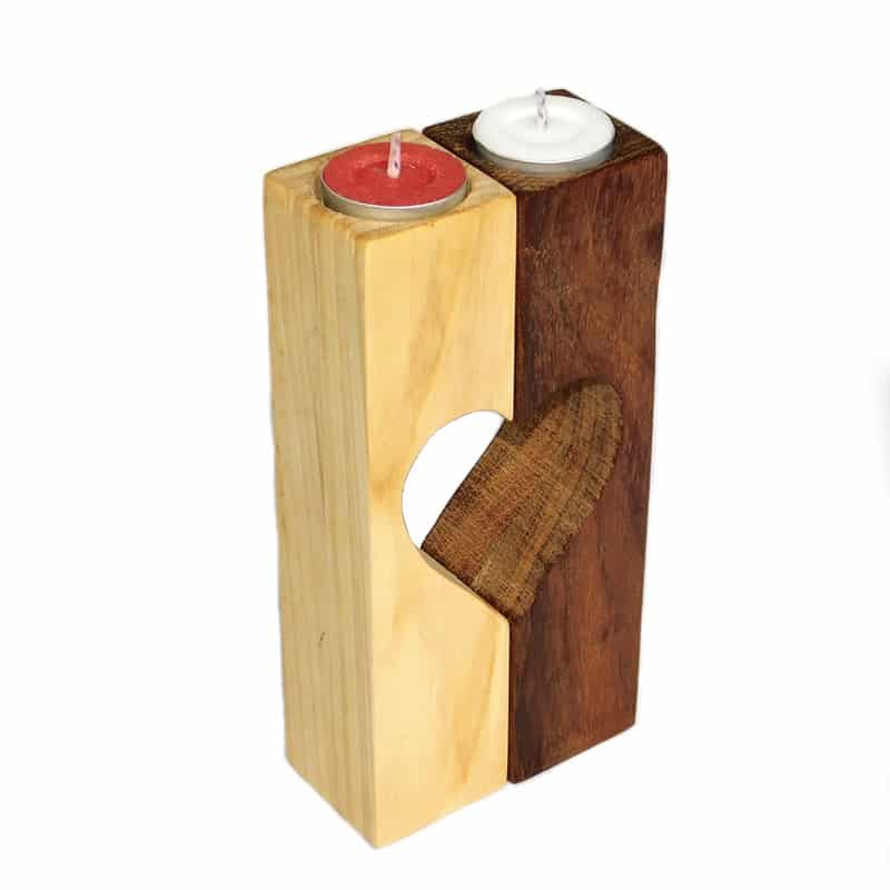 Unique Heart Candle Holders Set of 2- Shared Love