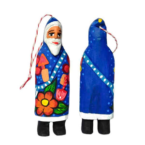 Colorful Santa Ornaments Set of 6