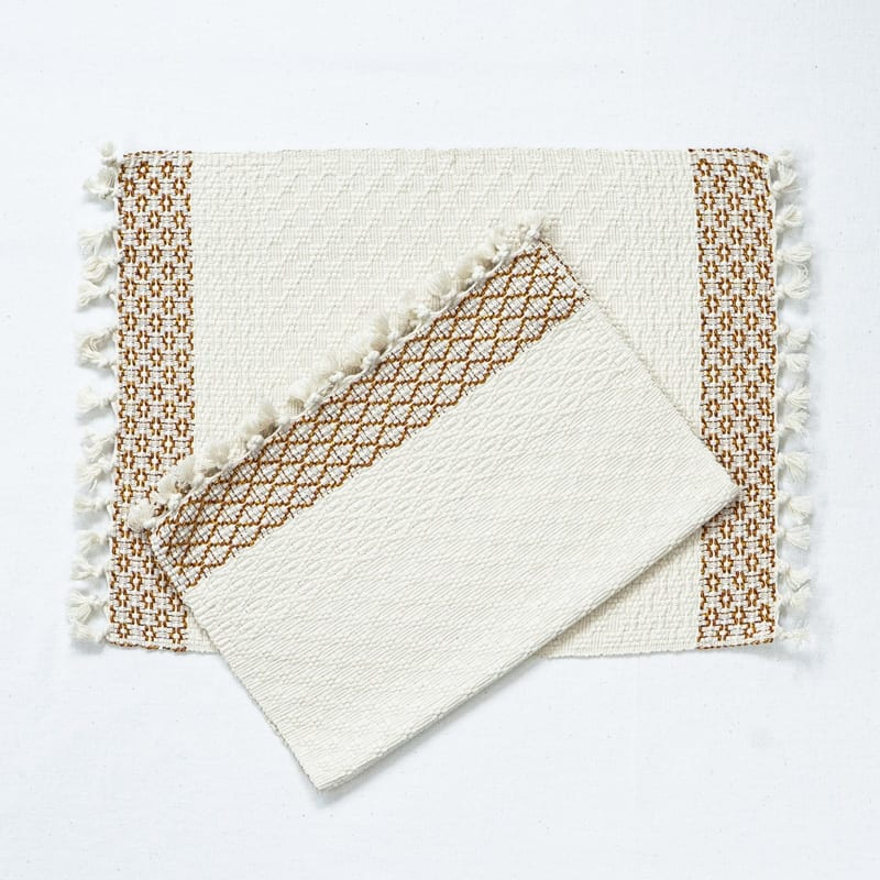Reversible cotton placemats woven in Guatemala