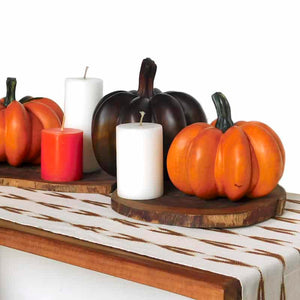 Unique Set of Wooden Pumpkins
