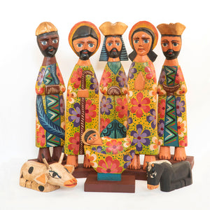 Floral Pattern Nativity