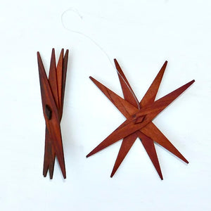Foldable Star Ornaments Set of 6