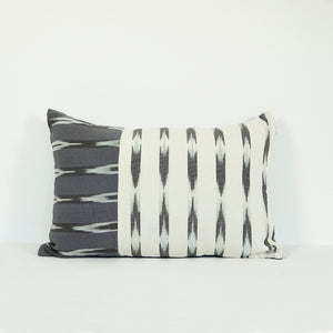 Gray lumbar pillow cover