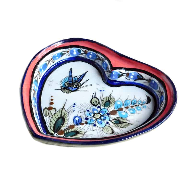 Ceramic Heart-Shaped Plate