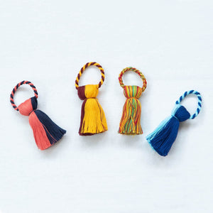 Fabric Napkin Rings with Tassels