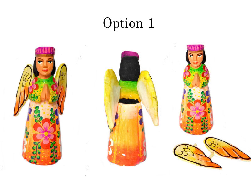 Colorful Wooden Angel Statue