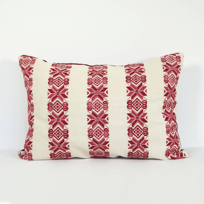 Red Lumbar Pillows - Nahuala Stars