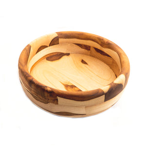 Hand made with teak wood salad bowl