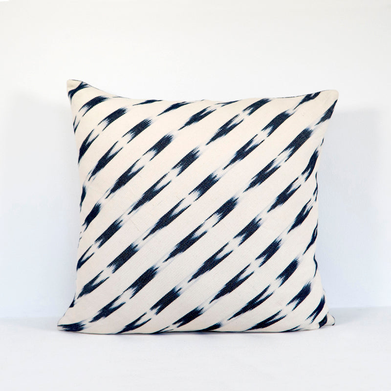 Square blue pillow cover