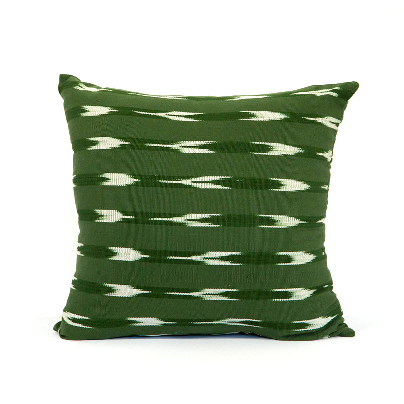 Green square pillow case