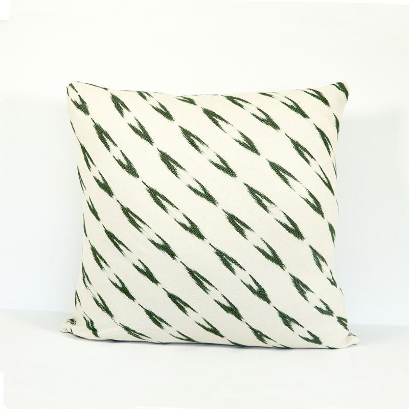 Ikat pillow case green design