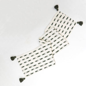 Natural cotton with gran stripes table runner