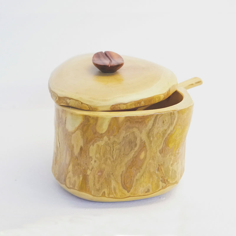 Sugar Bowl with Lid and Spoon - Coffee Root Collection
