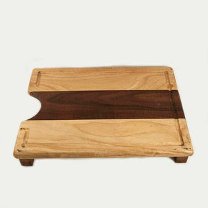 Wood Cutting Board with Feet and Cutout