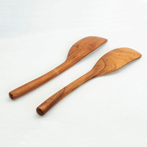 Wooden Oar-Shaped Salad Servers