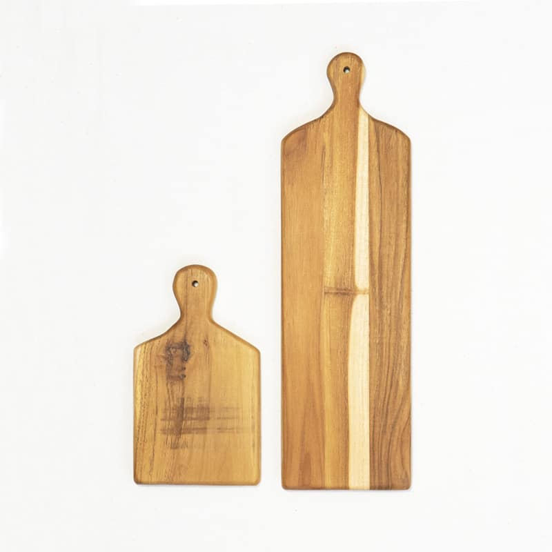 Teak Cutting Boards with Decorative Handle Holes