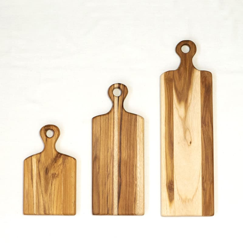 Teak Cutting Boards for Bread & Baguettes