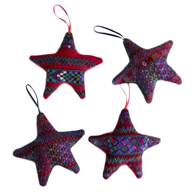 Fabric Star Ornaments (Set of 4)
