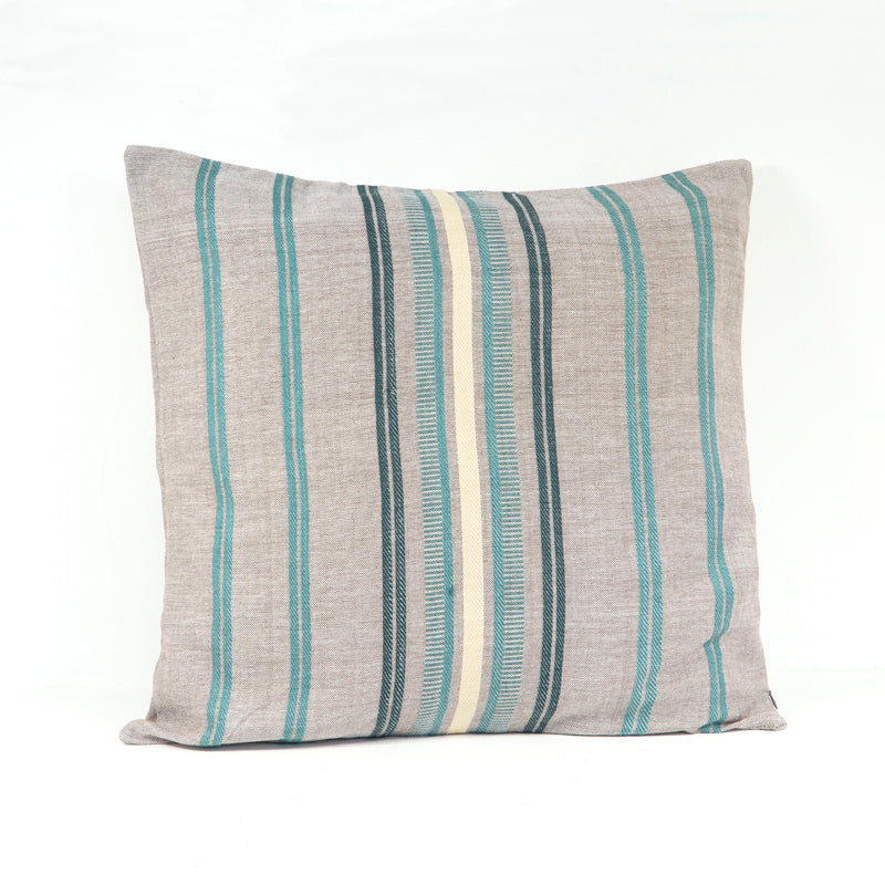 Pillow Cover - Sand & Sea Collection with Beige and Blue Colors
