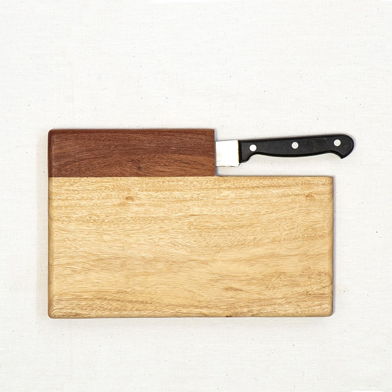 Wood Cutting Board with Knife Holder