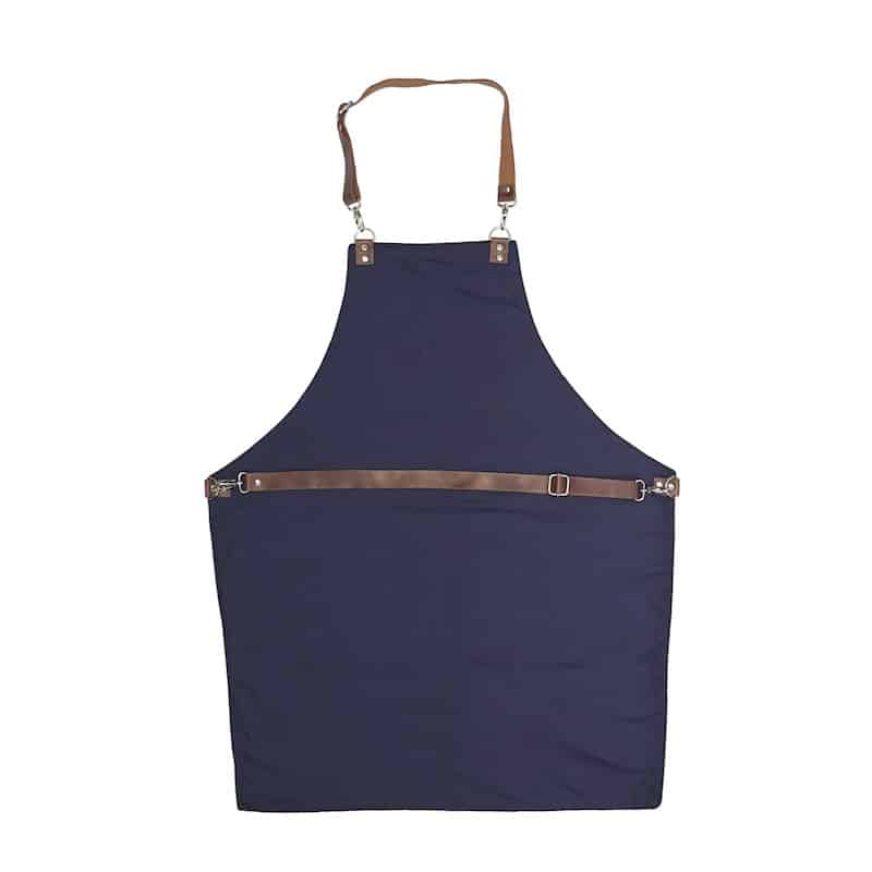 Denim Apron with Detachable Leather Straps