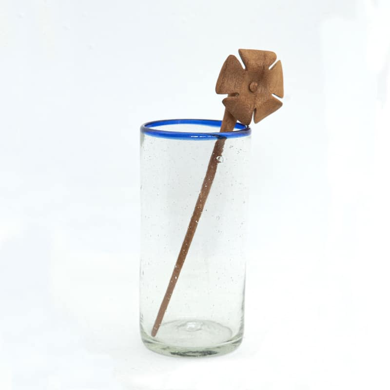 Fun Wooden Drink Stirrers (Set of 4)