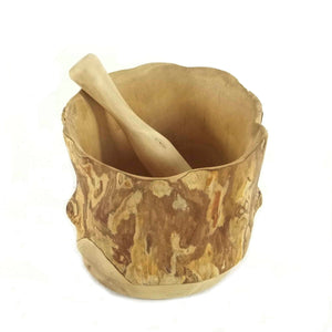 Wooden Mortar and Pestle - Coffee Root Collection