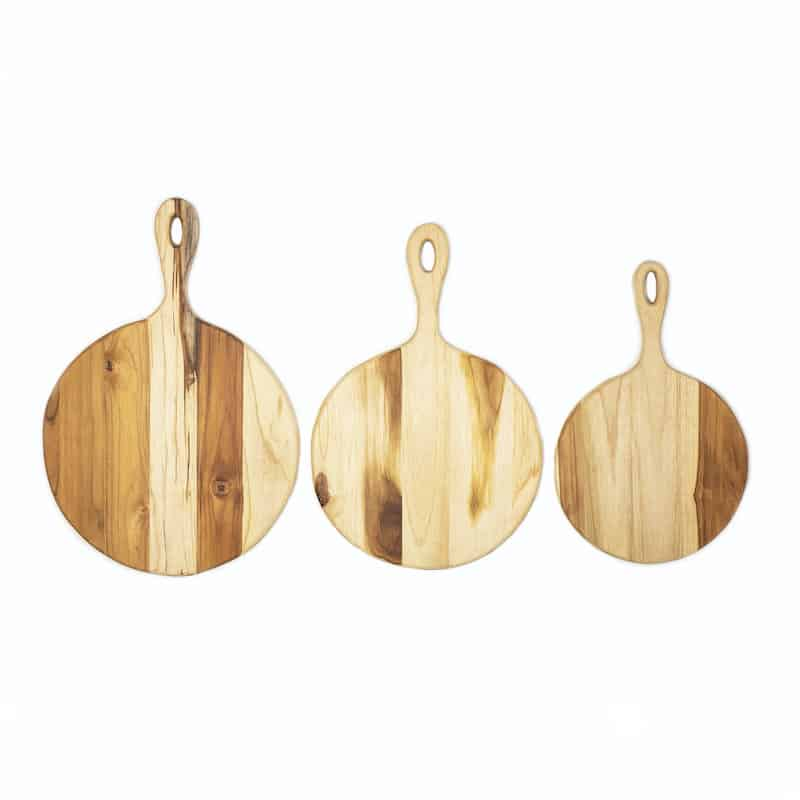 Wooden Paddle Boards for Pizza