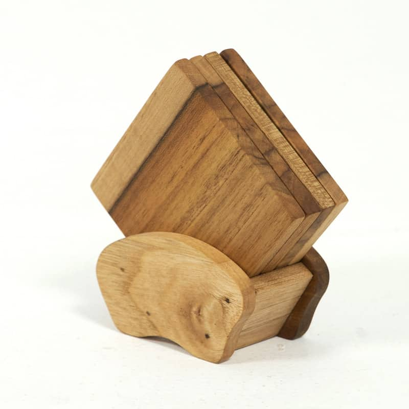 Teak Coasters - Round or Square (Set of 4)