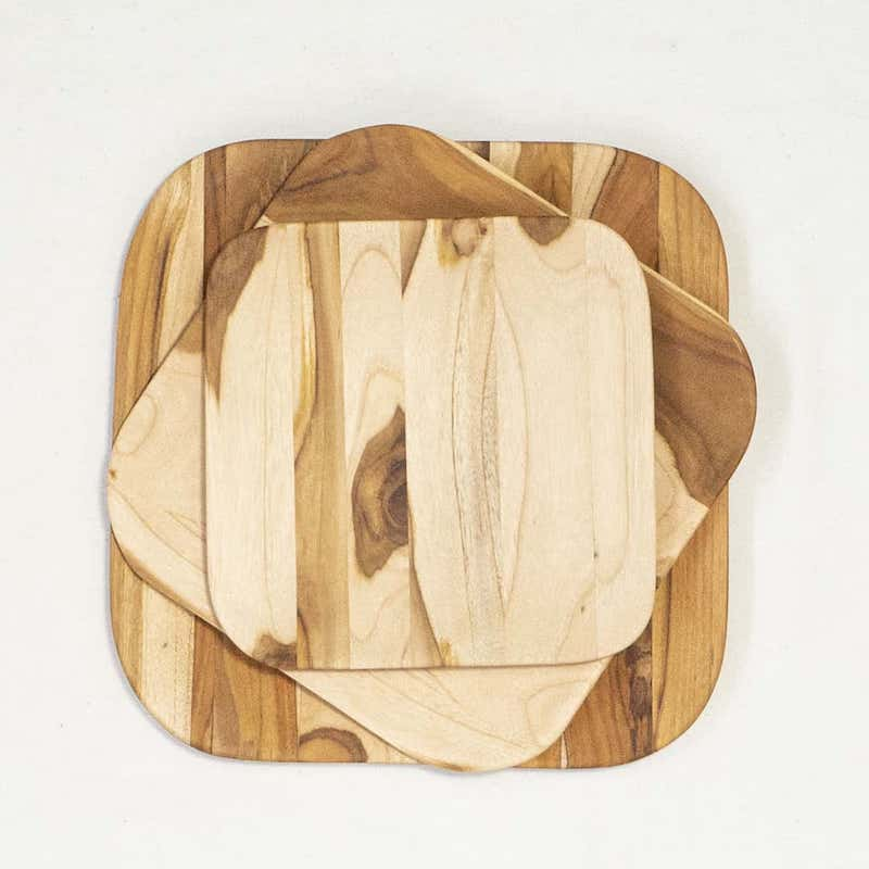 teak wood serving boards three sizes