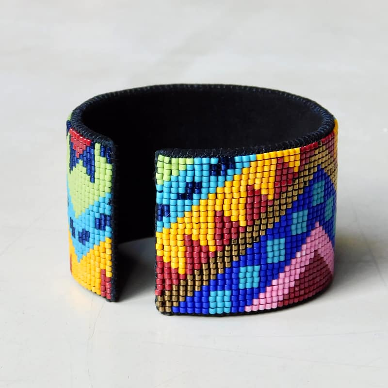 """Volcano"" Wide Leather Cuff Bracelet"