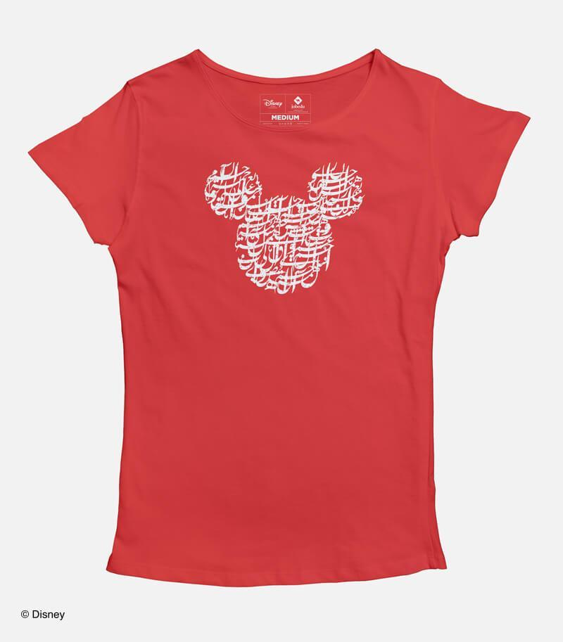 Mickey Calligraphy Women's T-shirt