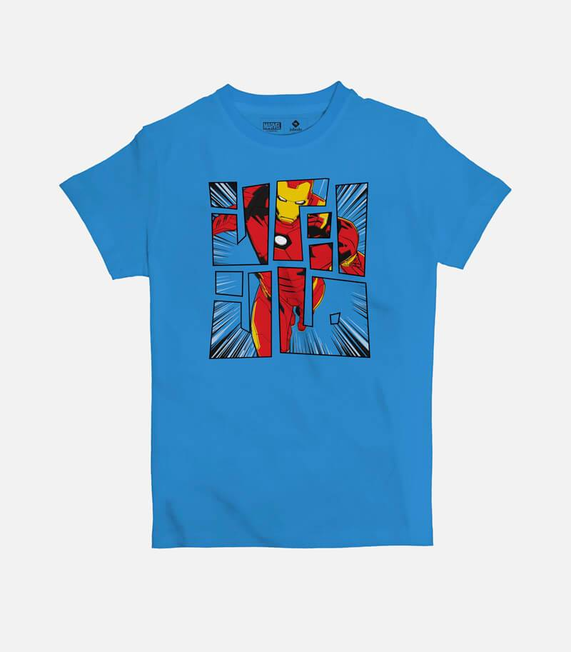 Iron Man Comic Font Kids' T-shirt