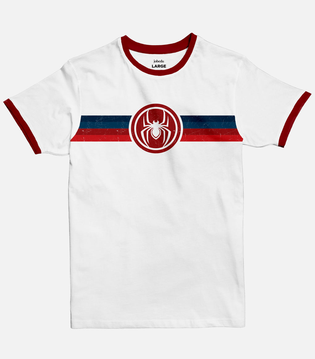 Spiderman Stripes Ringer T-shirt