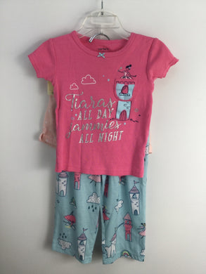 Carter's 2 Pink Polyester Pajamas - girls