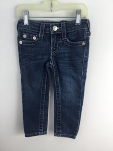 True Religion Child Size 2 Blue Denim Pants - girls