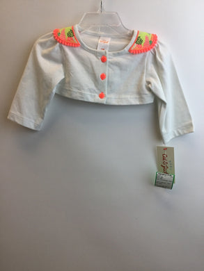 Cat & Jack Child Size 3-6 Months White Cotton Jacket - girls