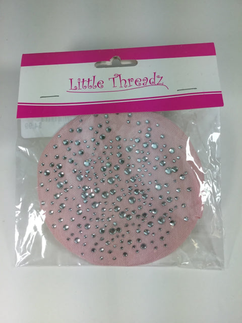 Little Threads Pink Rhinestone Bun Cover