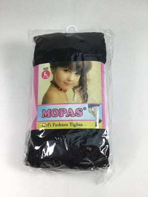 Mopas Child Size 7-10 Black Tights - girls