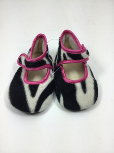 Baby Bella Maya Child Size 3-6 Months Black Print Shoes/Boots - girls