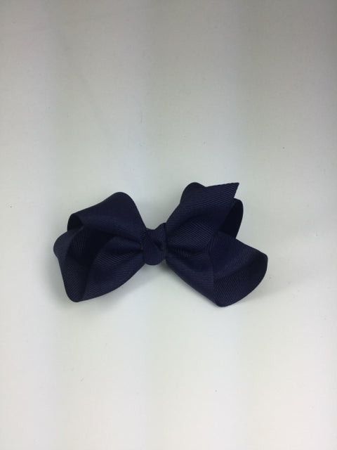 Large Solid Navy Cuteypie Clips