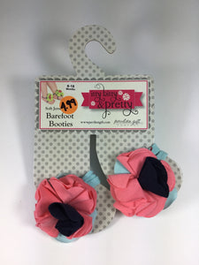 Child Size 6-18 months Itty Bitty & Pretty Barefoot Booties