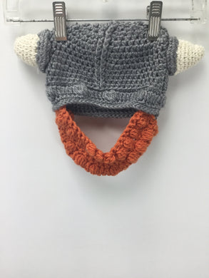 Knitted Viking Hat & Beard - infant
