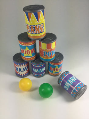 Carnival Plastic Can Game w/ Balls