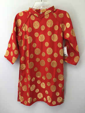 Child Size 3 Red screen printed Costume