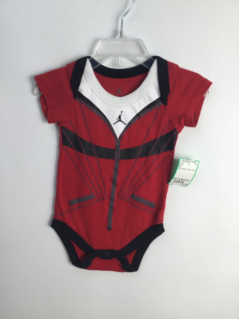 Nike Child Size 0-6 Months Red Cotton Onesie