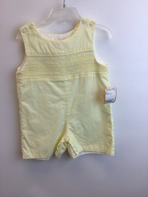 Strasburg Child Size 12 Months Yellow smocked Outfit