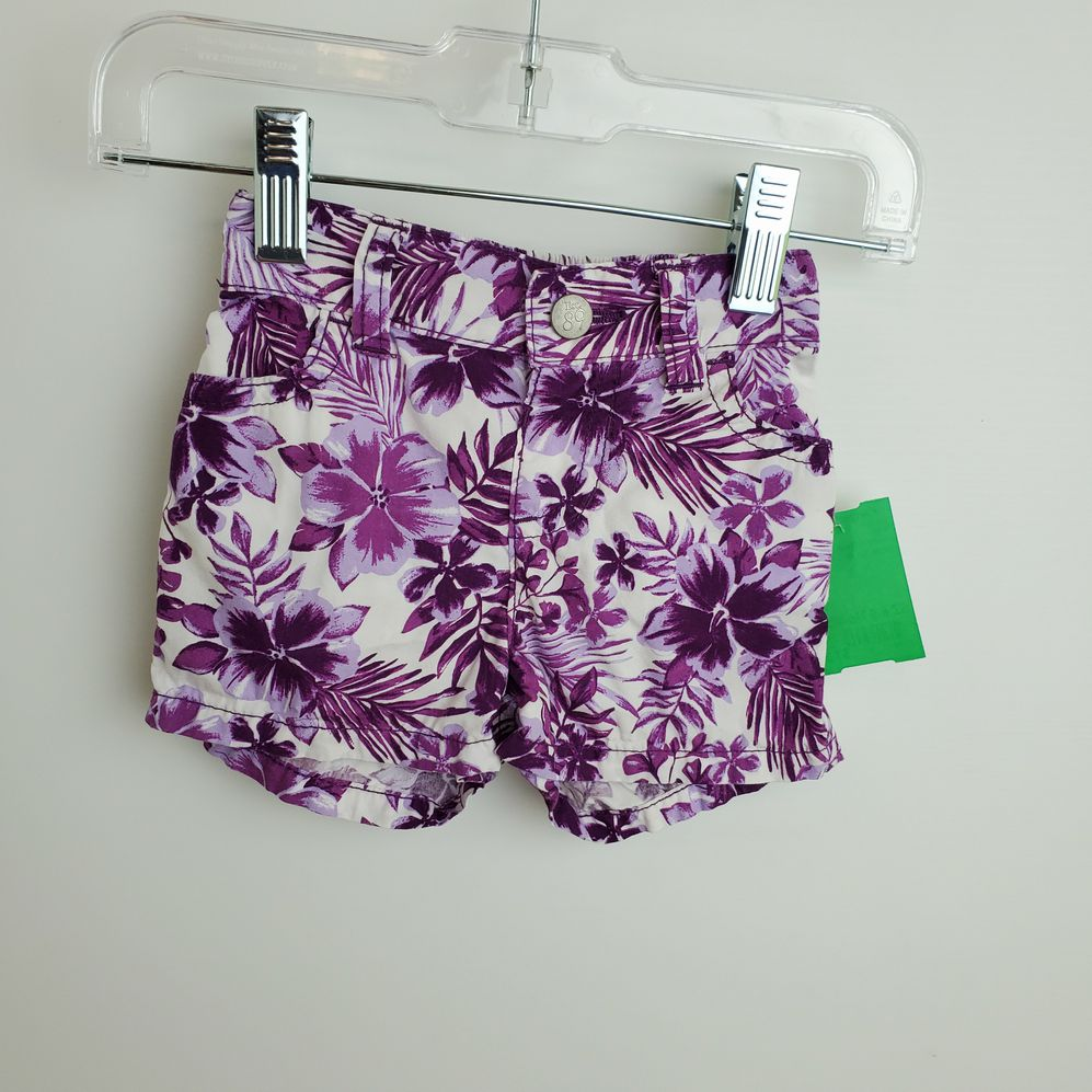 Childrens Place Child Size 6-9 Months Purple Cotton Shorts - girls